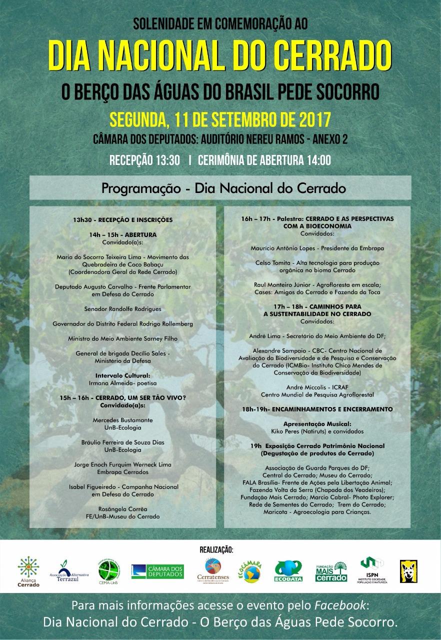 Palestra Raul Monteiro - Comemoração ao Dia Nacional do Cerrado- O BERÇO DAS ÁGUAS DO BRASIL PEDE SOCORRO