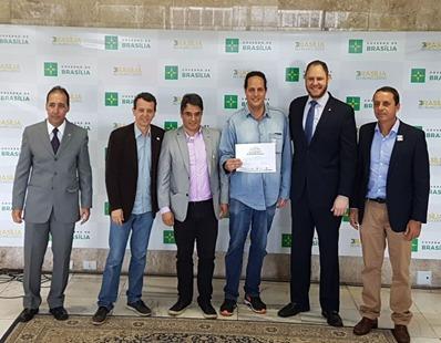 Premiação da Fazenda Amigos do Cerrado no 1º Concurso de Iniciativas Sustentáveis da Secretaria de Meio Ambiente SEMA DF (2017)